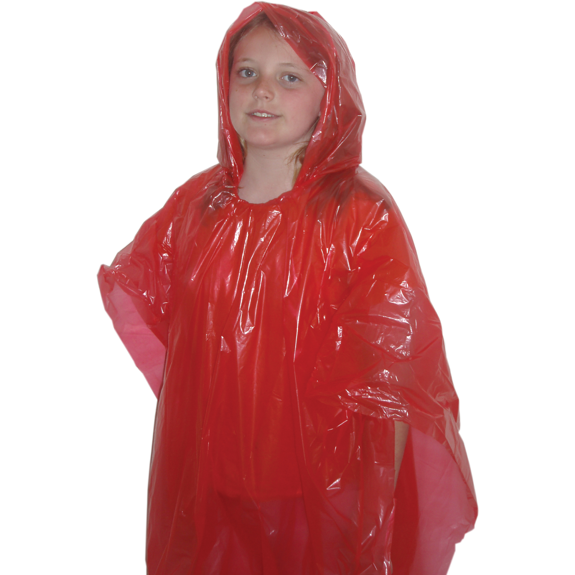 Children's Red Emergency Poncho, Weather Protection, Rain Gear, Emergency Zone (5 Pack) by Emergency Zone