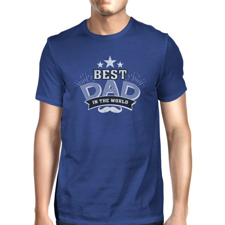 Best Dad In The World Mens Blue Vintage Tee Cute Fathers Day (Best Mens Suits In The World)