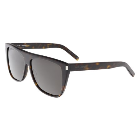 Saint Laurent SL 1-004 Dark Havana  Flat Top Rectangle Sunglasses ()