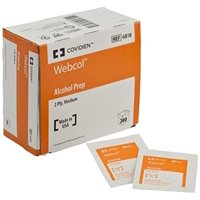 Alcohol Medium Prep Pads by Kendall, 1200 Count