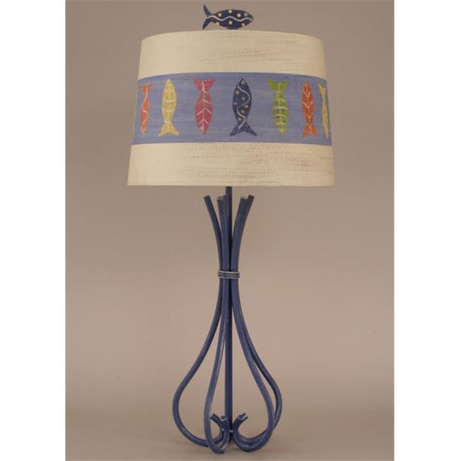 Coast Lamp 12-B21C 5-Leg Iron Table Lamp - Weathered Morning Jewel