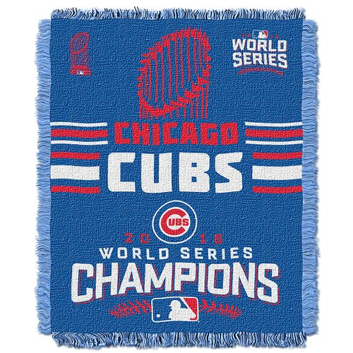 "Official Major League Baseball Chicago Cubs ""2016 World Series Champions"" Woven Tapestry Throw, 46"" x 60"""