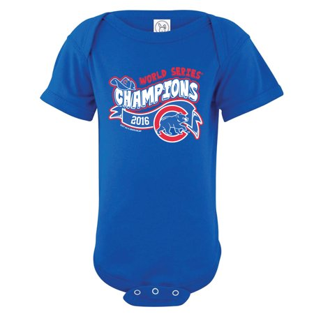 (Chicago Cubs Soft as a Grape Infant 2016 World Series Champions Bodysuit - Royal)