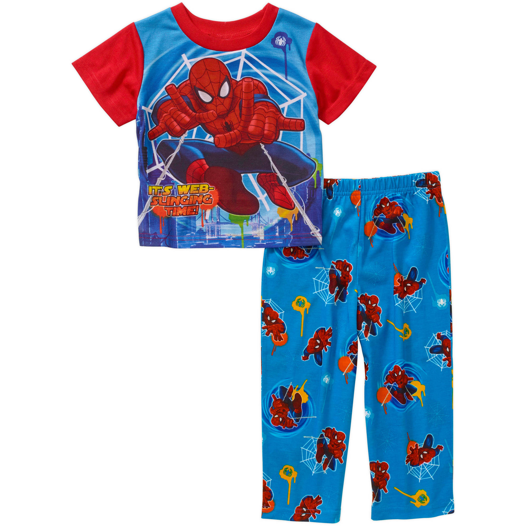 Spider-Man Toddler Boy Short Sleeve Pajama Sleepwear Set