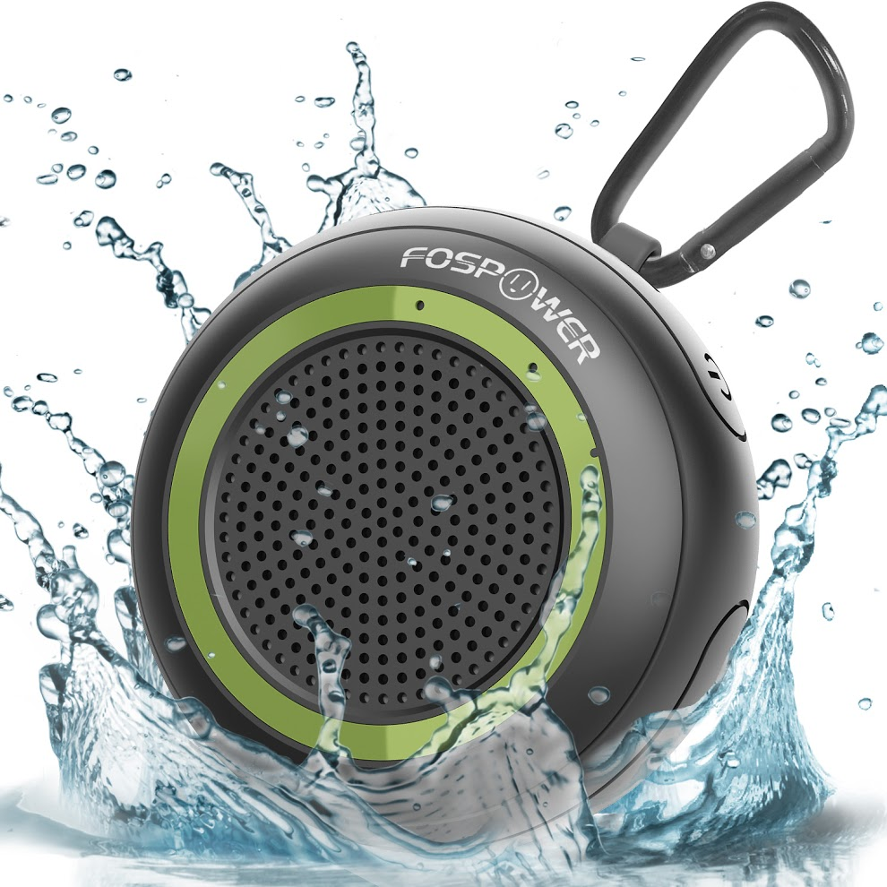 Waterproof Bluetooth Speaker IPX7, FosPower Outdoor Portable Wireless Speakers with 10 Hours Playtime, HD Audio, Enhanced Bass, Built-In Mic, Bluetooth 4.2, TWS Mode and TF Card Slot