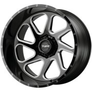 "Tuff T2B (Left) 26x14 5x5"" -72mm Black/Milled Wheel Rim 26"" Inch"