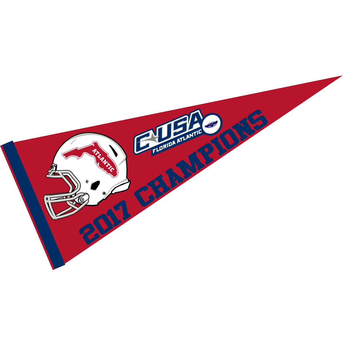 Florida Atlantic Pennant Full Size Felt College Flags and Banners Co