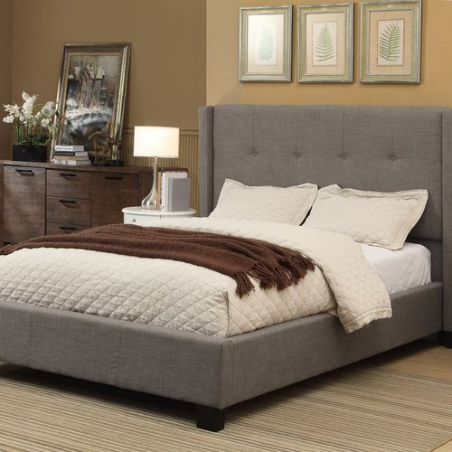Modus Furniture Madeleine Upholstered Panel Bed by