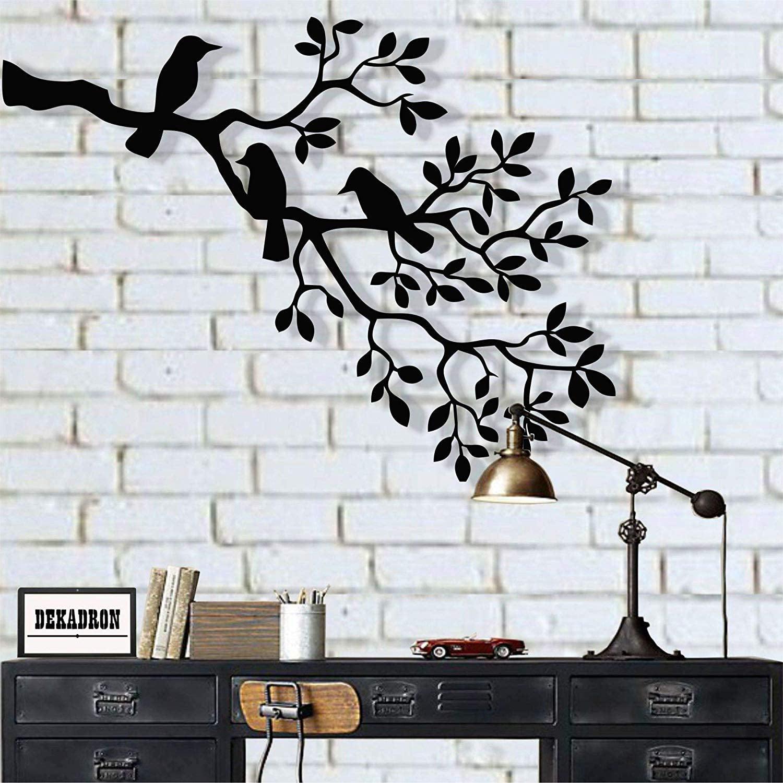 LaModaHome Metal Wall Art, Metal Birds Art, Metal Wall ...