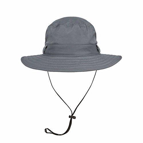 Solar Escape - Solar Escape Men s UV Explorer Bucket Hat UPF 50+ Charcoal 9a7ff00b08c