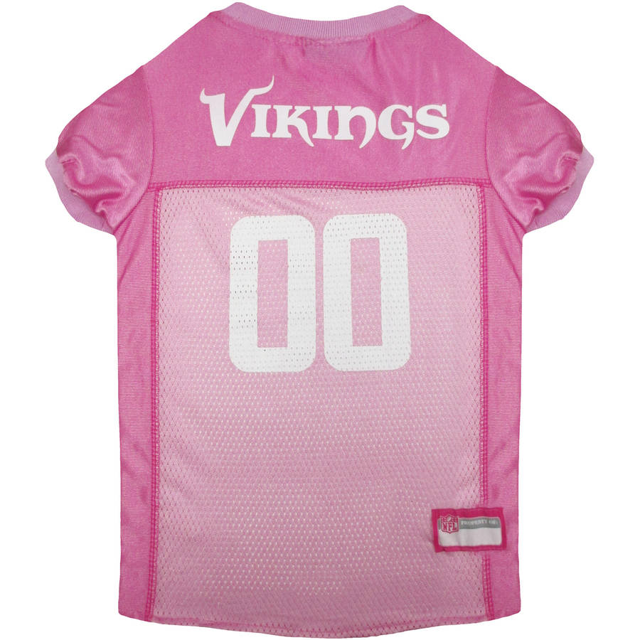 Pets First NFL Minnesota Vikings Pet Pink Jersey, 4 Sizes Available