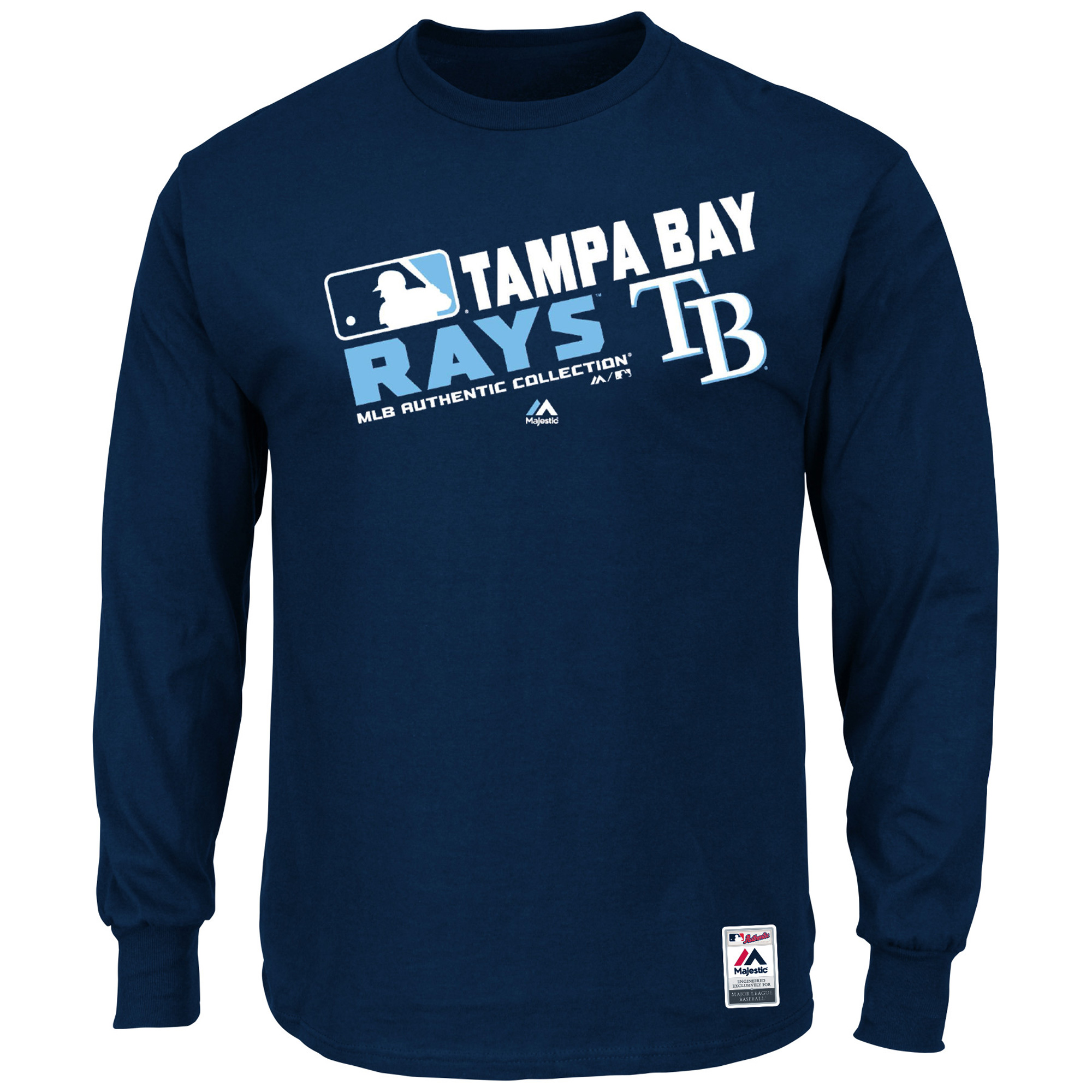 Tampa Bay Rays Majestic Authentic Collection Team Choice Long Sleeve T-Shirt - Navy