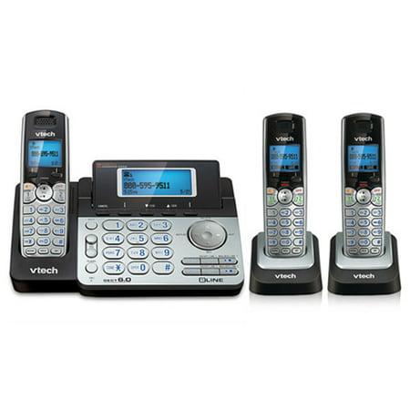 2 Line Expandable Phone - VTech DS6151 + (2) DS6101 2 Line Expandable cordless phone DECT 6.0 Technology(1.9GHz)
