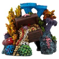 Aqua Culture Large Ship or Coral Reef Aquarium Ornament, Style May Vary