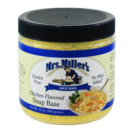 Flared Base - Mrs. Miller's Chicken Flavored Soup Base 12 oz. (2 Jars)