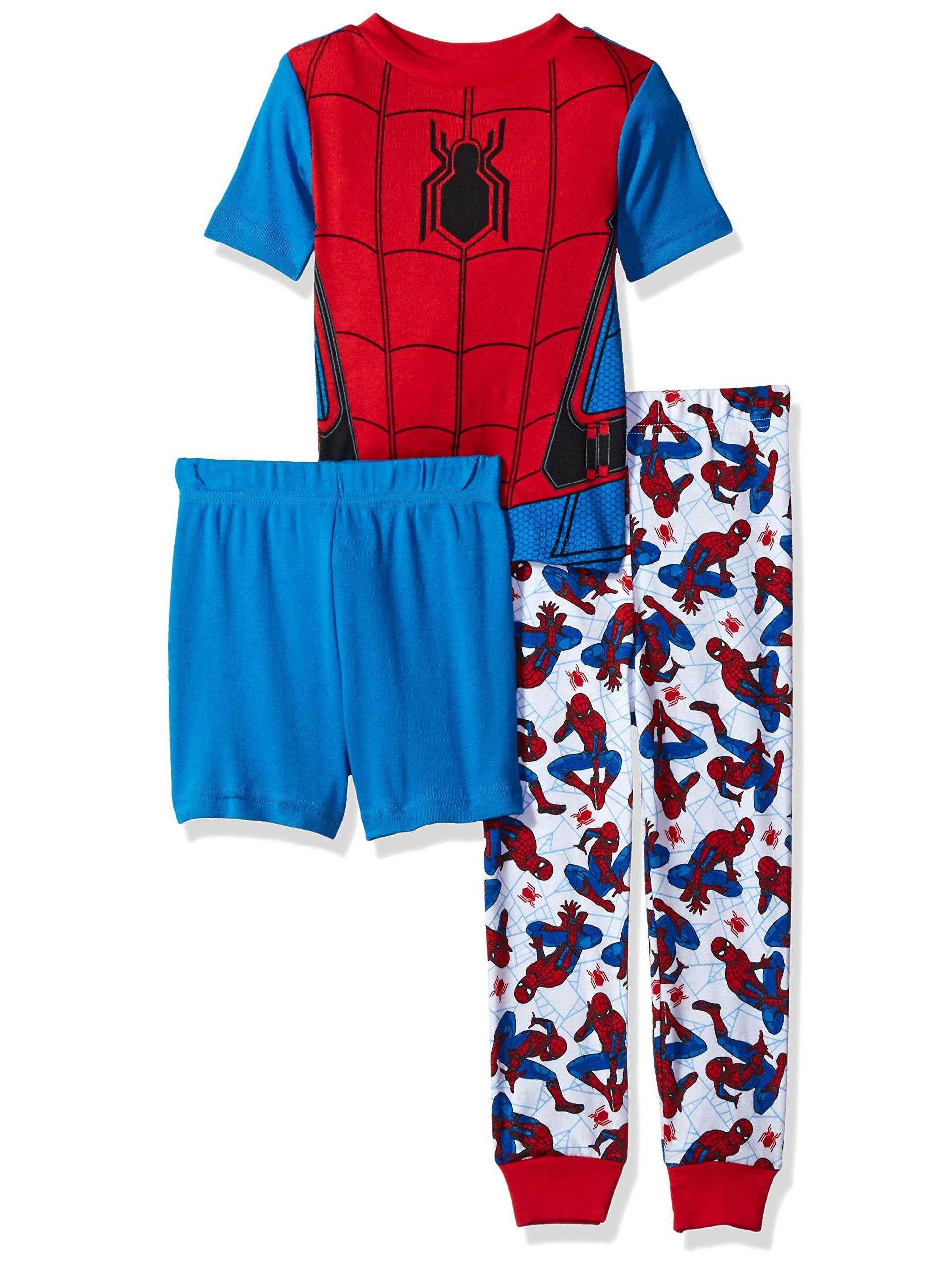 Marvel Little Boys' Spiderman 3-Piece Cotton Pajama Set