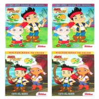 Disney Jake And The Never Land Pirates 2 Styles 96 Pg Coloring & Activity Book (4 Pack) # 861852-set-2pk