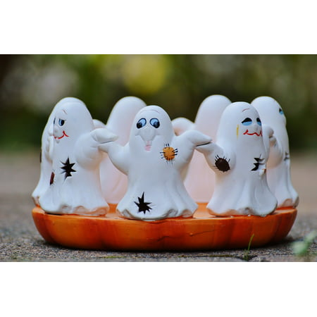 Canvas Print Cute Halloween Group Ghosts Ghost Stretched Canvas 10 x 14](Cute Halloween Ideas For Groups)