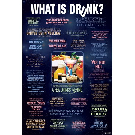What is Drunk Funny Quotes Drinking College Poster 24x36 inch