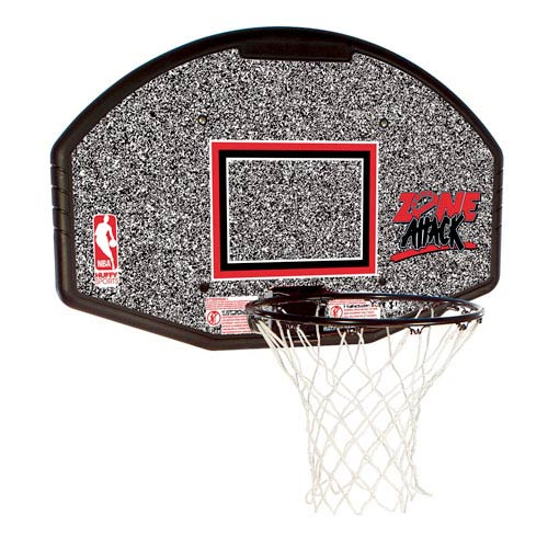 Spalding 80602R NBA Eco-Composite 44 Inch Basketball Backboard and Rim Combo