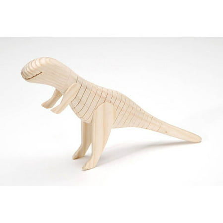 Wiggle Wood Natural Wooden Dinosaur Toy