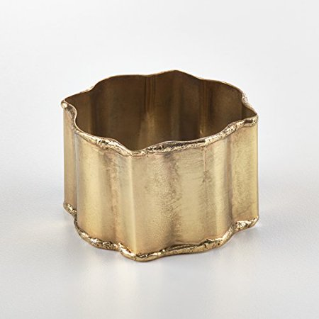 Fennco Styles Collection Classic Design Napkin Ring - 2 Colors - Set of 4 (Gold)](Gold Napkin Rings)