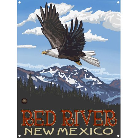 Red River New Mexico Metal Art Print by Paul A. Lanquist (9