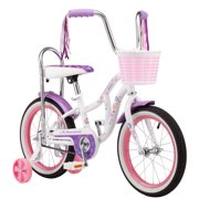 Schwinn Bloom kids bike, 16-inch wheel, training wheels, girls, white