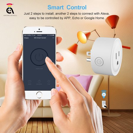 Outtop Smart Power Socket Wifi Wireless Mini Switch Remote Control Timer Outlet US Plug (small appliances)