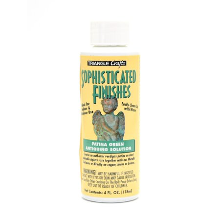 Sophisticated Finishes Patina Green Antiquing Solution 4 oz. (pack of - Sophisticated Finishes