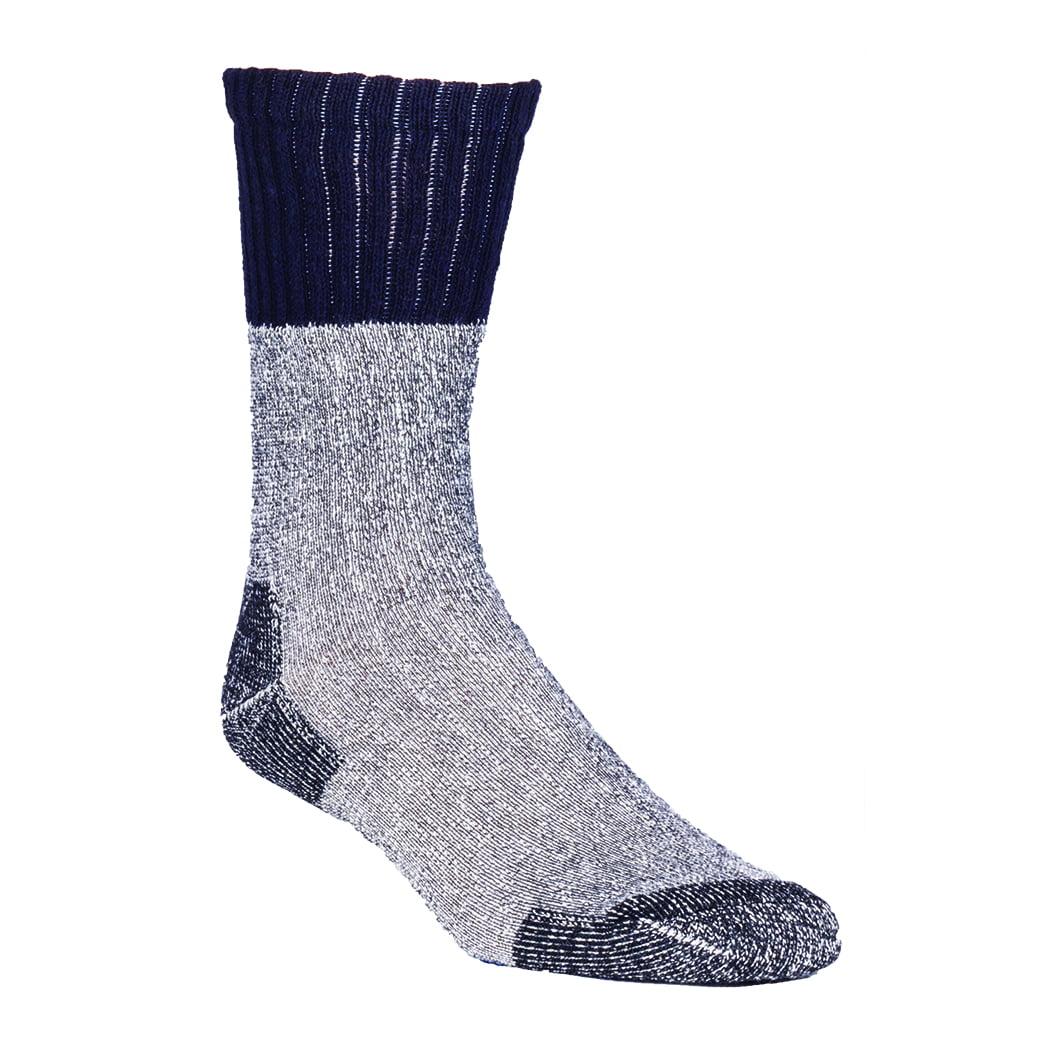 Poly Blend Sock - 4-pairs, Black, Large