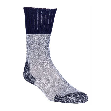 Poly Blend Sock - 4-pairs, Black, Large
