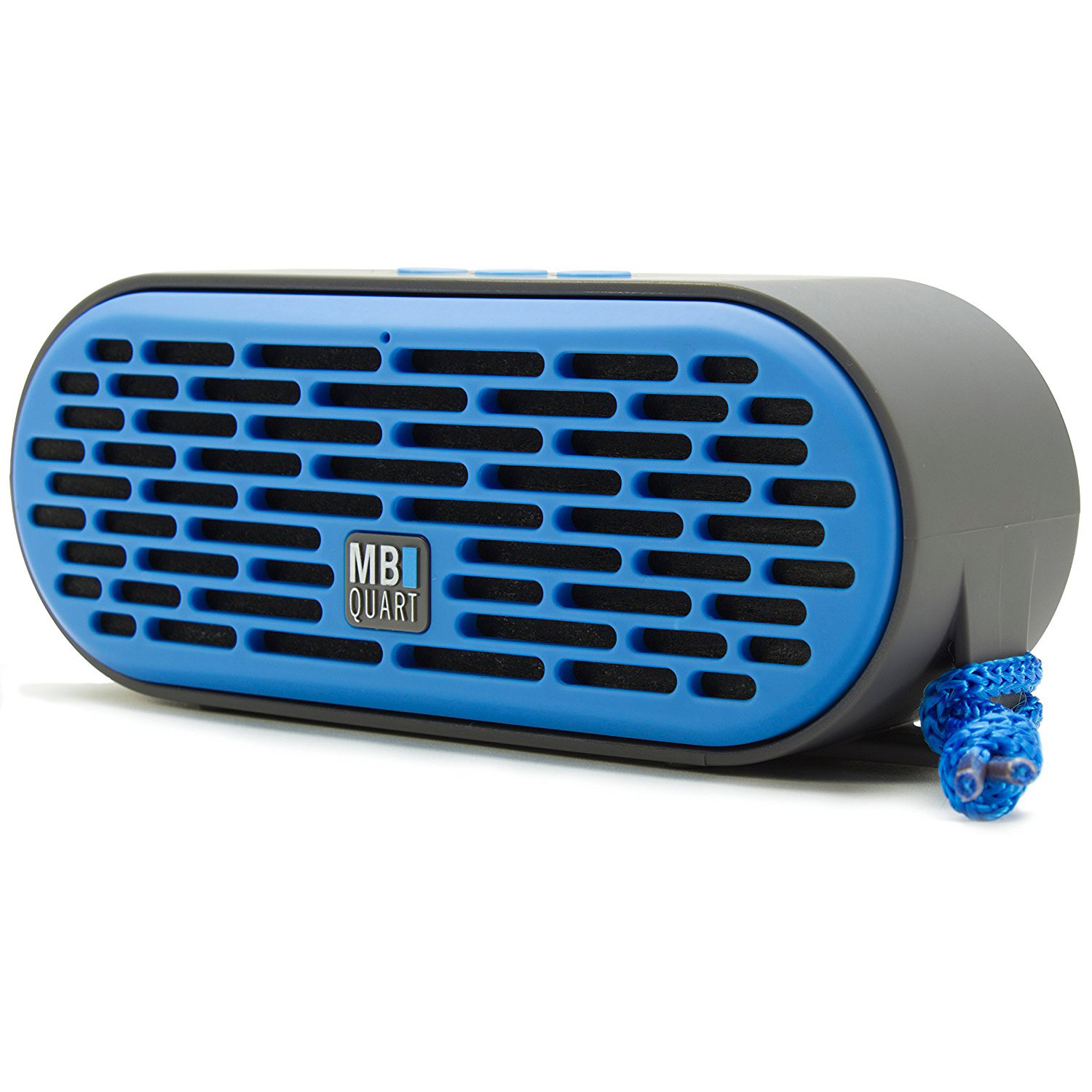 MB Quart QUBThree USB Wireless Rechargeable Portable Bluetooth Speaker, Blue