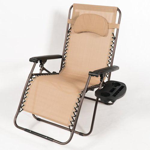 Freeport Park Adriana Reclining Zero Gravity Chair with Cushion
