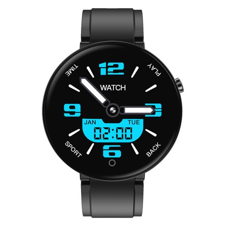 1.4 Inch Color Screen Smart Watch Health Fitness Tracker Wristband with Free Watch Band IP67 Waterproof Smart Bracelet,  Black Q&A1.Q. Is it waterproof ?A. It's lP67 waterproof.2. Q. What is the APP?A. Its Wearfit2.0.3. Q. How to change the time of my device?A. Please synchronize the device with your phone through bluetooth to calibrate time.Specification Brand: DT NO.1 Model: DT18 Color: Black bluetooth Version: BT 4.2 or above Compatible OS: Android 4.4 or above , iOS 8.4 or above Operating Mode: Single Touch APP Name: Wearfit2.0 App Language: English,Portuguese,Spanish,French,German,Italian,Czech,Russian,Japanese,Korean, Simplified Chinese,Traditional ChineseSpecial Features Waterproof: IP67 Heart Rate Monitor: Support Blood Pressure Monitor: Support Blood Oxygen Monitor: Support Sleep Monitor: Support Multi-sport Modes: Support (Runing,Cycling,Climbing) Call or Message Reminder: Support Reject Call: Support Notification: Support Facebook,Wechat, WhatsApp etc. Alert Type: Vibration Auto Light-up Screen: Support Stopwatch: / Other Functions: Support Pedometer,Alarm,Calender,Sedentary reminder,Camera remote control,Anti-lostTechnical Parameters Sensor: Heart Rate Sensor Screen Size:1.4 Inch Type:TFT Resolution: 240*240pixels Battery Battery Capacity: 220mAh Standby Time: About 7days Using time: About 30days Charging Time: About 2hours Charging Type: Magnetic chargingAppearance & Details Band  Material: Silicone Length: about 255mm Width: about 20mm Tips:1.Display and light of shoot will affect the color of the products, pictures for reference only, subject to our available products.
