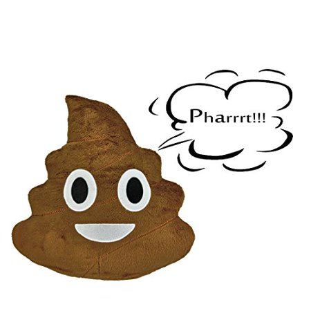 Farting Sound Poop Emoji Pillow - 14