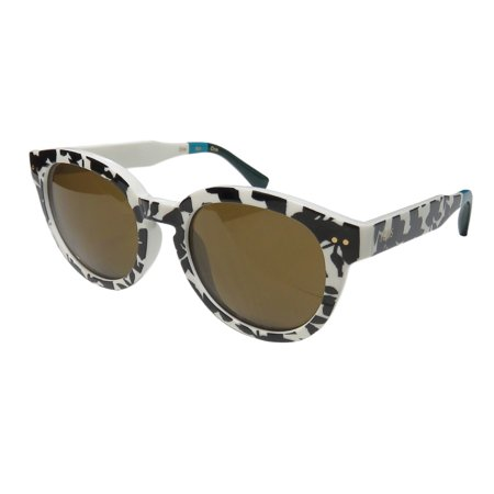 New Toms Bellevue Womens/Ladies Designer Full-Rim 100% UVA & UVB Black / Whire Print / Teal Colorful Must Have High Quality Hip Shades Sunnies Frame Brown Lenses 51-19-145 (Best Quality Sunglasses Brands)