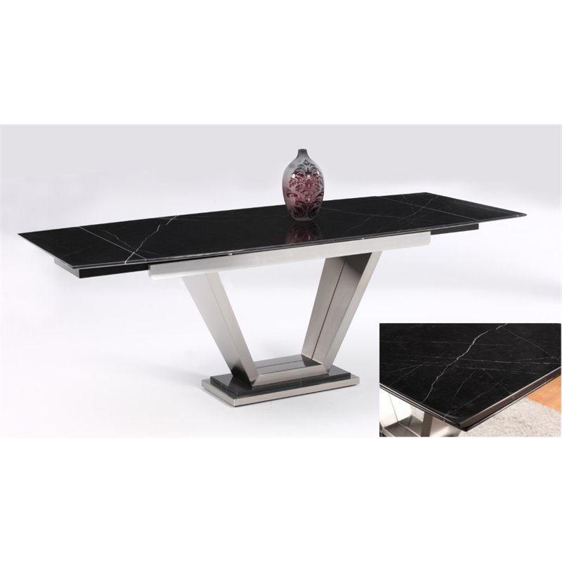 Chintaly Imports Dining Table in Black
