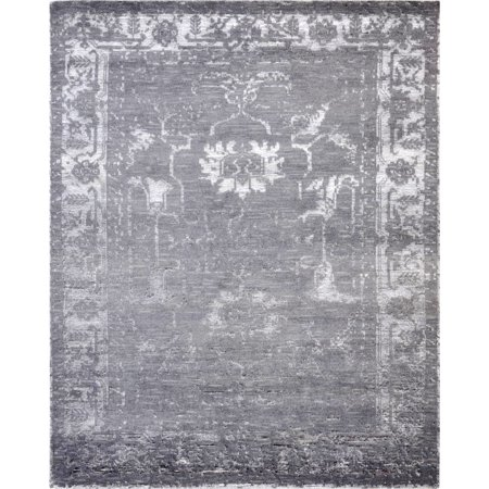 Silky Fusion - Pasargad Silk Fusion Collection Hand-Knotted Bamboo Silk and Wool Area Rug