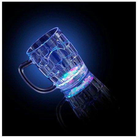 New LED Flashing Light Up Beer Mug Bar Party Barware - Light Up Bars