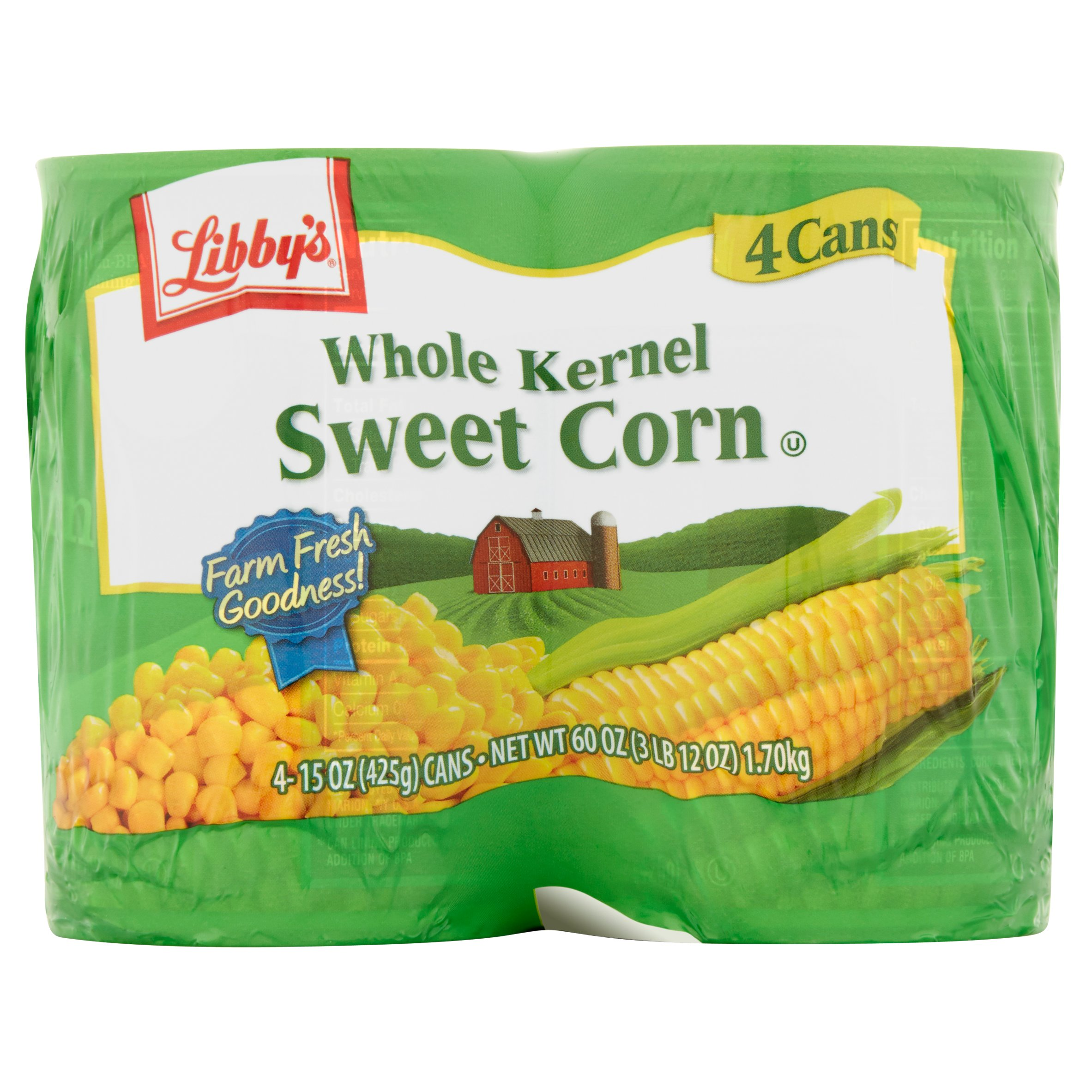 Libby's Whole Kernel Sweet Corn, 15 oz, 4 count