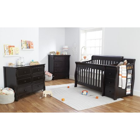 Sorelle Princeton Elite 4 in 1 Crib and Changer - Espresso