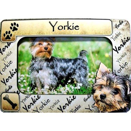 Yorkie Dog Breed Picture Frame Fridge Magnet