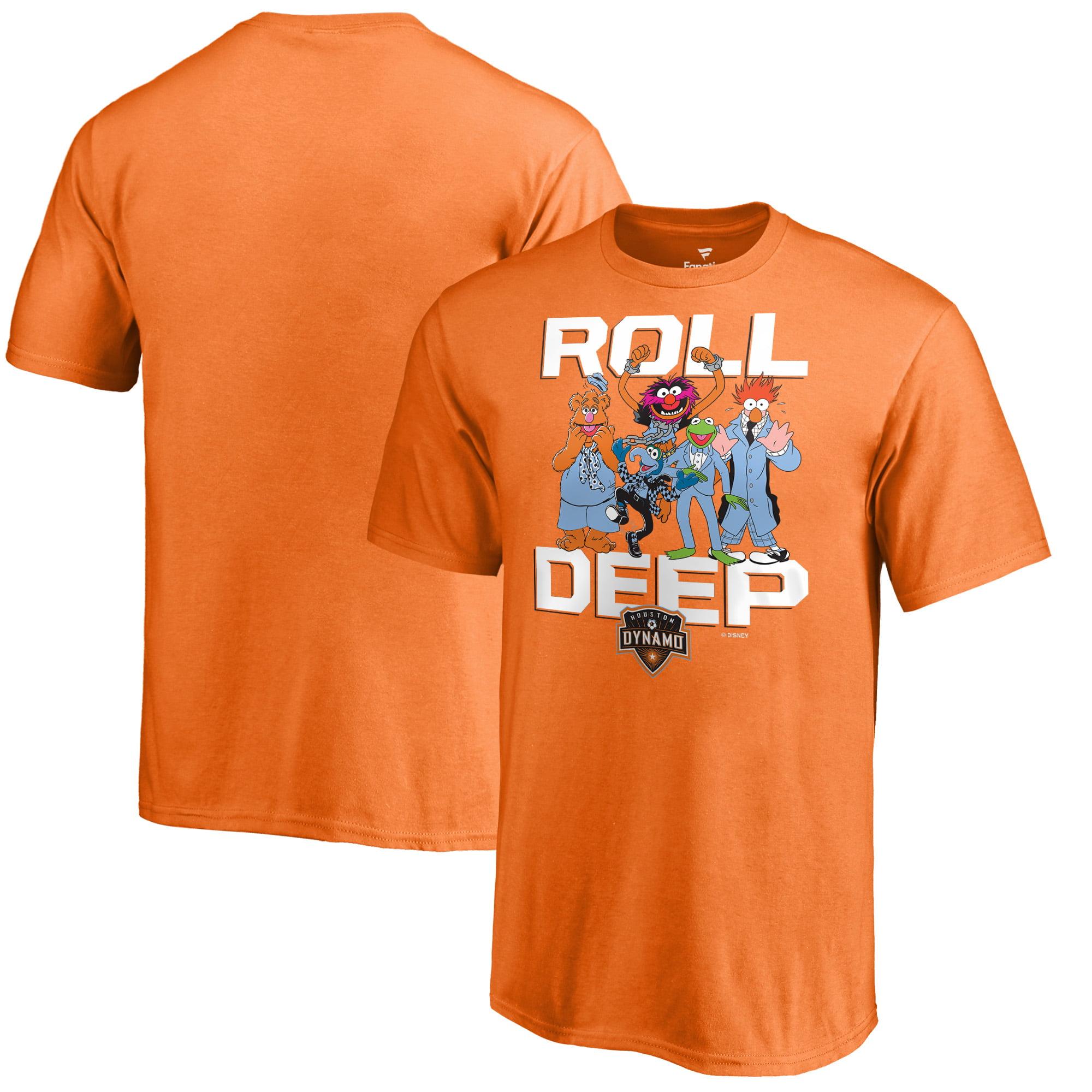 Houston Dynamo Fanatics Branded Youth Disney Roll Deep Muppets T-Shirt - Orange