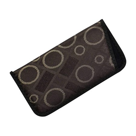 Soft Eyeglass Case For Men And Women, Slim Slip In Glasses Holder, Geometric Circles and Squares, (Geometric Glasses Case)