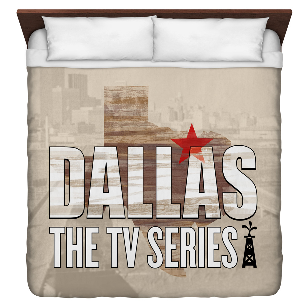 Dallas Logo King Duvet Cover White 104X88