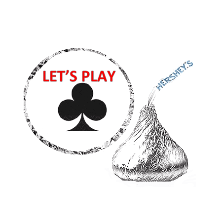 216 Lets Play Playing Card Symbol Party Favor Hershey