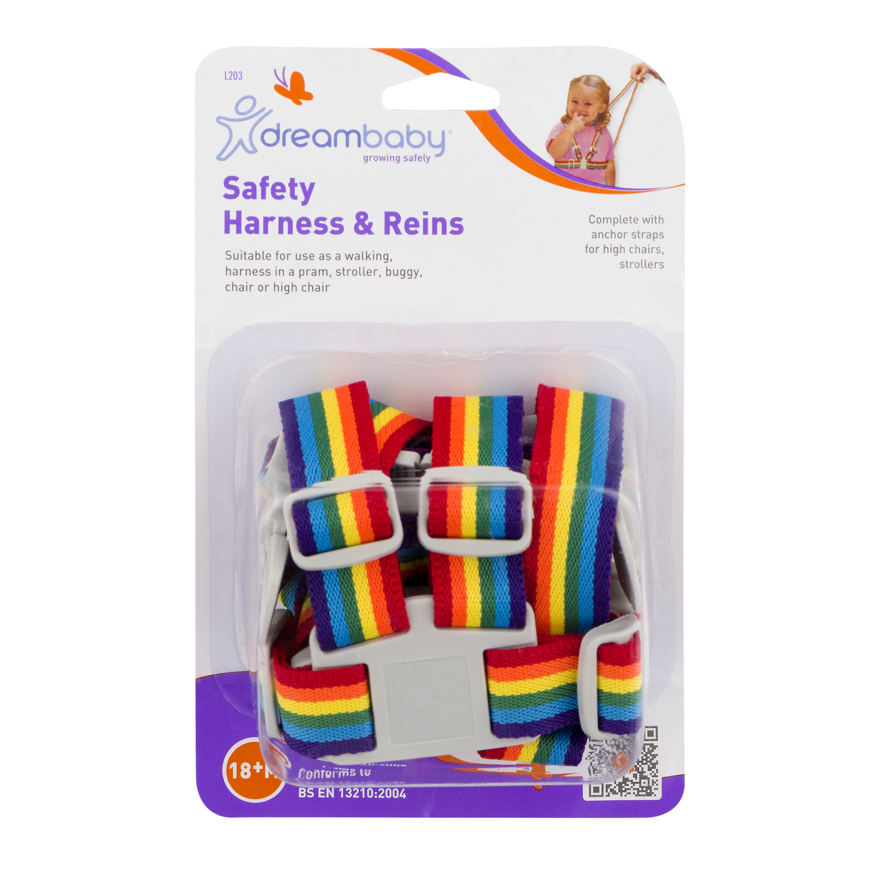 Dreambaby Safety Harness & Reins, 1.0 CT
