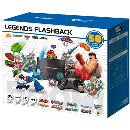 Legends Flashback BOOM! HDMI Game Console, 50 Games, Black, FB8650, 818858029612