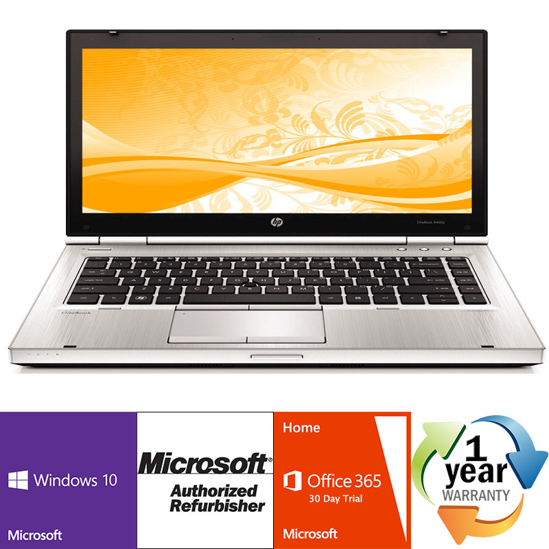 Off Lease REFURBISHED HP EliteBook 8470p 2.8GHz i5 4GB 250GB DVD Windows 10 Pro 64 Laptop CAM